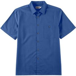 Boca Classics Mens Solid Button Down Collared Shirt