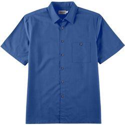 Boca Classics Mens Solid Button Down Collared Shirt