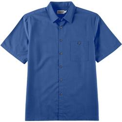 Mens Solid Button Down Collared Shirt