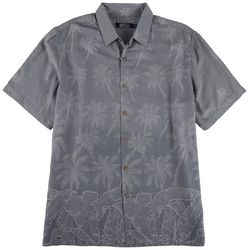 Boca Classics Mens Palm Woven Button Down Shirt