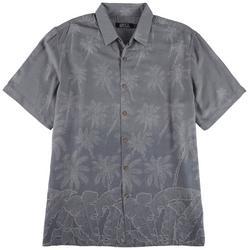 Mens Palm Woven Button Down Shirt