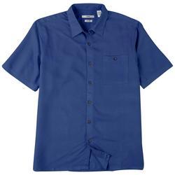 Mens Solid Crepe Short Sleeve Shirt