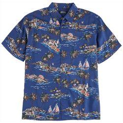 Boca Classics Mens USA Boat Button Down Collared Shirt
