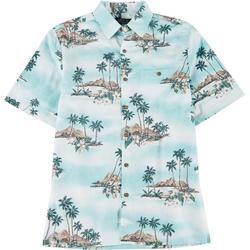 Mens Island Button Down Collared Shirt