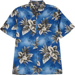 Boca Classics Mens Tropical Button Down Collared Shirt