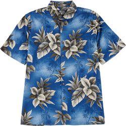 Mens Tropical Button Down Collared Shirt