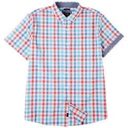 Mens Island Waters Gingham Plaid Button Down Shirt