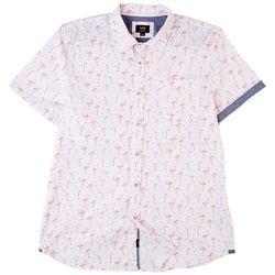 Lee Mens Havana Flamingo Button Down Shirt