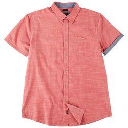 Lee Mens Jackson Chambray Button Down Short Sleeve Shirt