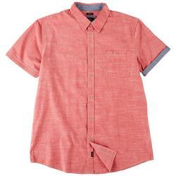 Mens Jackson Chambray Button Down Short Sleeve Shirt