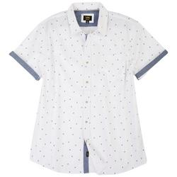 Mens Danny Palms Button Up Collared Shirt