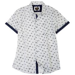 Mens Danny Sea Turtle Button Up Collared Shirt