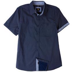 Mens Stanley Pop Pin Dot Button Up Collared Shirt