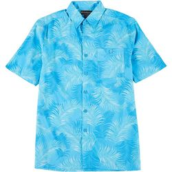 Mens Short Sleeve Tropical Leaf Print Shirt