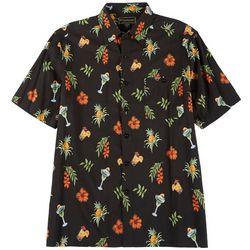Weekender Mens Short Sleeve Tropical Print Shirt