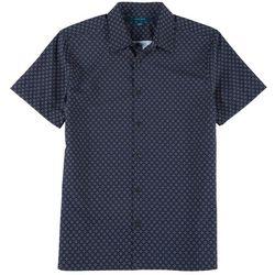 Perry Ellis Mens Geo Print Slim Fit Short Sleeve Shirt