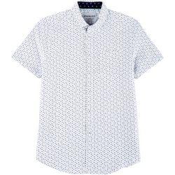 Mens Whale Micro Touch Button Down Shirt
