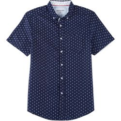 Modextil Mens Anchor Micro Touch Button Down Shirt