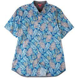 Unionbay Mens Boardwalk Tropical Poplin Button Down Shirt