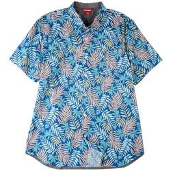 Mens Boardwalk Tropical Poplin Button Down Shirt