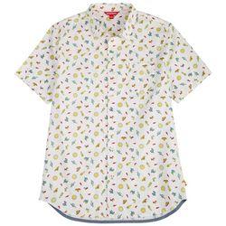 Unionbay Mens Boardwalk Festival Print Poplin Shirt