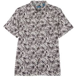 Caribbean Joe Mens Tropical Print Shirt
