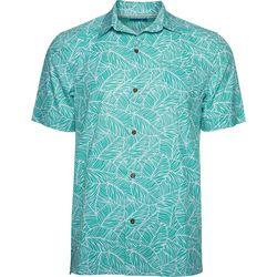 Caribbean Joe Mens Leaf Time Button Down Shirt