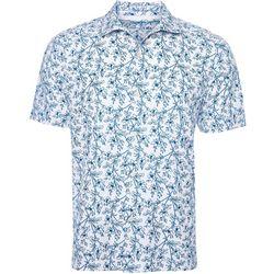 Caribbean Joe Mens Tonal Palm Button Down Shirt