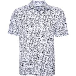Mens Relaxed Floral Button Down Shirt