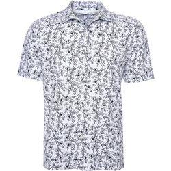 Caribbean Joe Mens Relaxed Floral Button Down Shirt