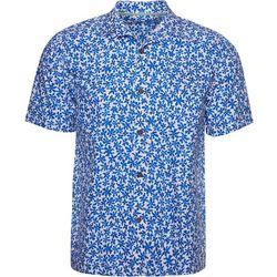 Caribbean Joe Mens Floral Button Down Shirt