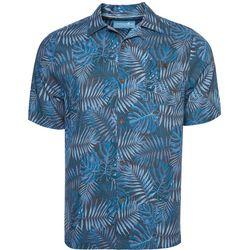 Mens Leaf Camp Button Down Shirt
