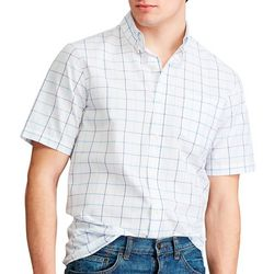 Chaps Mens Tatter Square Button Down Short Sleeve Shirt