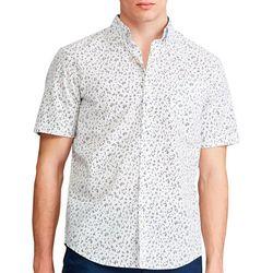 Chaps Mens Ditzy Button Down Short Sleeve Shirt