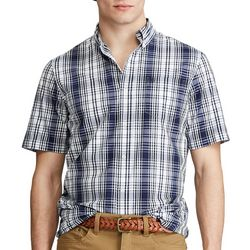 Chaps Mens Window Plaid Button Down Shirt