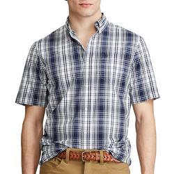 Mens Window Plaid Button Down Shirt