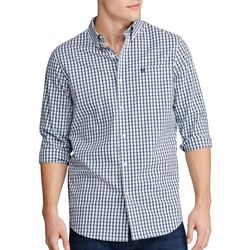 Chaps Mens Gingham Button Down Long Sleeve Shirt