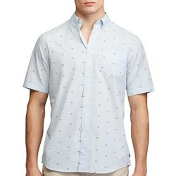 Chaps Mens Poplin Lime Print Button Down Shirt