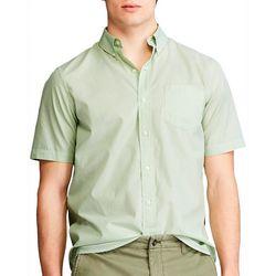 Chaps Mens Short Sleeve Poplin Woven Collared Shirt