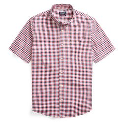 Chaps Mens Americana Woven Short Sleeve Plaid Shirt