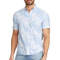 Chaps Mens Go Untucked Palm Print Shirt
