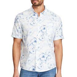 Chaps Mens Go Untucked Hibiscus Print Shirt