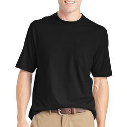 Mens Short Sleeve Solid Doubler T-Shirt