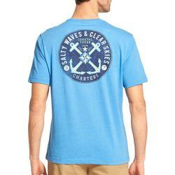 IZOD Mens Saltwater Double Anchor T-Shirt