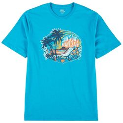 IZOD Mens Suns Out Graphic Short Sleeve T-Shirt