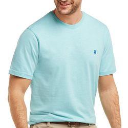 IZOD Mens Solid Slub Knit Short Sleeve T-Shirt