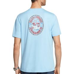 IZOD Mens Flamingo Graphic Short Sleeve T-Shirt