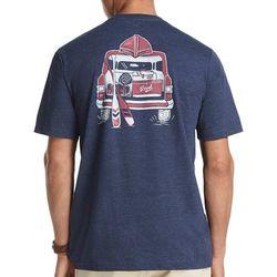IZOD Mens Vintage Truck Short Sleeve T-Shirt