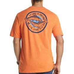 IZOD Mens The Lake Is Calling Heathered T-Shirt