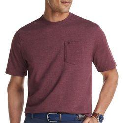 IZOD Mens Heathered Short Sleeve Pocket T-Shirt